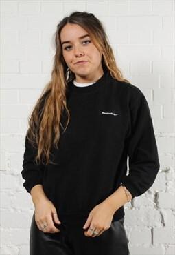 Vintage Reebok Sweatshirt in Black w/ Spell Out Logo