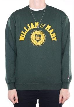 Vintage Champion - Green College Crewneck Sweatshirt - Large
