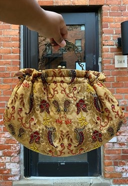 Vintage Beaded Paisley Purse