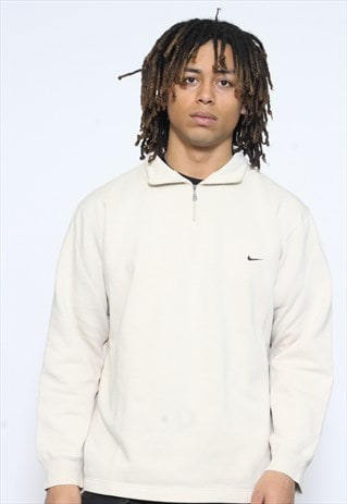 VINTAGE NIKE CREAM 1/4 ZIP SWEATSHIRT