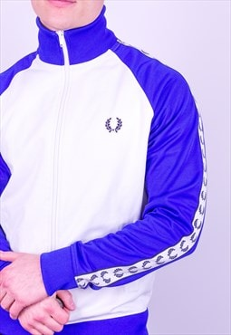Vintage Fred Perry Jacket in Blue & White