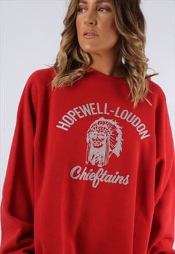 Sweatshirt Jumper CHIEFTAINS Oversized Print UK 18 (K9DU)