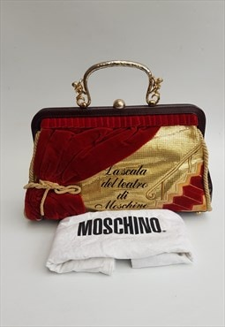 "Red and Gold ""La Scala del Teatro"" Handbag"