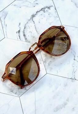 90s Tan & Brown Sunglasses Festival Vintage Accessories