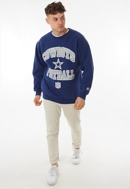 Vintage Starter Cowboys Football Sweatshirt Blue