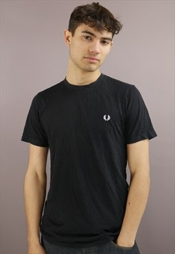 Vintage Fred Perry T-Shirt In Black With Logo