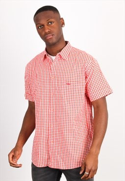 Vintage Missoni Short Sleeve Shirt in Red