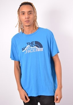 Vintage The North Face T-Shirt Top Blue