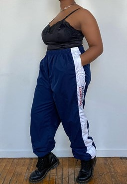 Vintage 80s Nautica Blue/White Track Pants (XL)