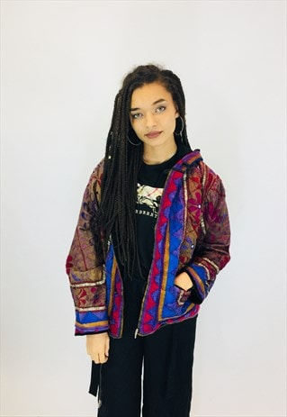 GORGEOUS VINTAGE REVERSIBLE BOHO JACKET