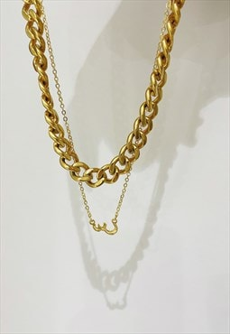 Seen - S&C Arabic initial Necklace - 18K Gold Plated