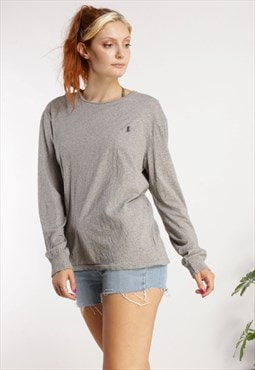 Vintage Polo Ralph Lauren Long Sleeve Top Grey Z1037