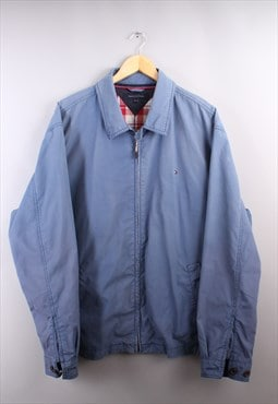 Mens Vintage Tommy Hilfiger Blue Harrington Jacket