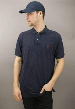Vintage Ralph Lauren Polo Shirt in Blue with Logo