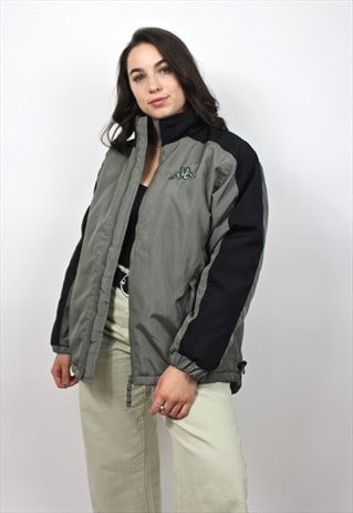 90'S RETRO KHAKI PADDED JACKET
