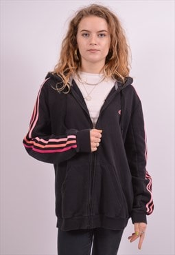 Adidas Womens Vintage Hoodie Sweater Large Black 90s