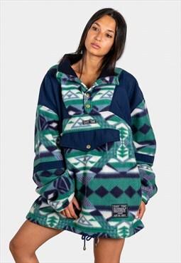 """Vintage 80s """"AvelinasSelection"""" Oversize Fleece Jacket/4284"""