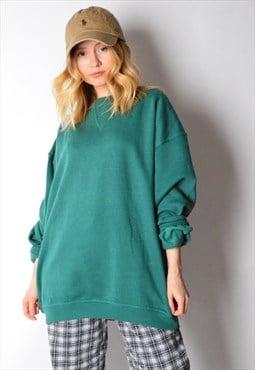Vintage 90s Forest Green Sweatshirt