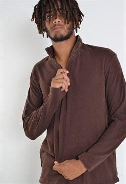 Vintage Wrangler 1/4 Zip Sweatshirt Jumper Brown