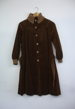 Vintage browncord long jacket