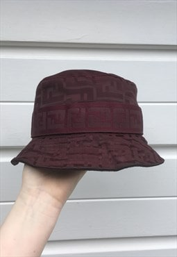 Womens Vintage Fendi hat purple monogram print bucket hat