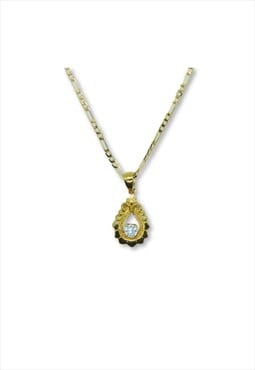 Zircon stone necklace