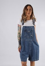 Vintage B.U.M EQUIPMENT Denim Dungaree Shorts UK 20 (DDC)