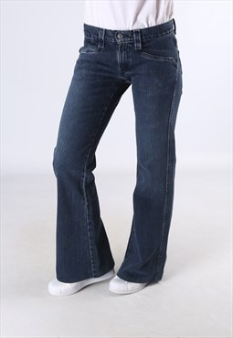 LEVIS Low Slouch Flare Denim Jeans Flared Leg UK 10 (9C5B)