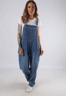 Vintage Denim Dungarees Wide Tapered Leg UK 16 XL (JRBI)