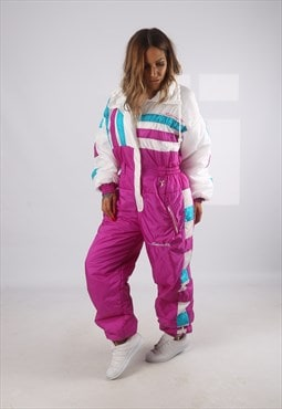 Vintage Full Ski Suit Snow Sports 90's UK 14 - 16  (KHBH)