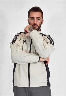 ADIDAS beige jacket without hood with black sports s