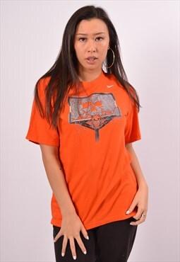 Vintage Nike T-Shirt Top Orange
