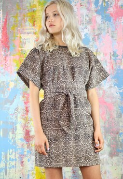 Relax Fit Dress in soft snakeskin print with kimono sleeves
