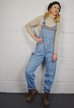 Vintage Pepe Embroidered Dungarees Overalls