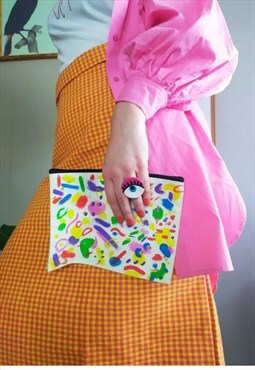 Hand-painted clutch On my mind