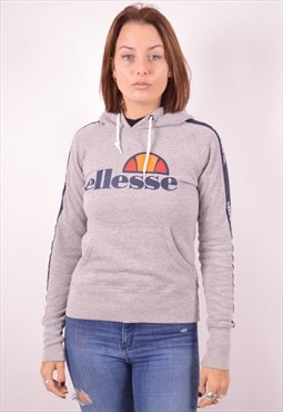 Ellesse Womens Vintage Hoodie Jumper Medium Grey 90s