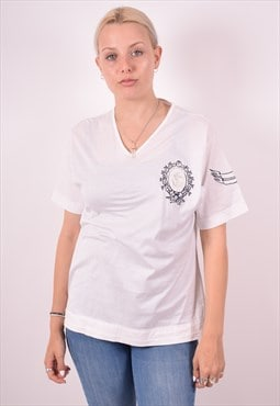 Ferre Womens Vintage T-Shirt Top XL White 90s