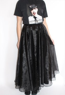 Black Party Wear Skirt