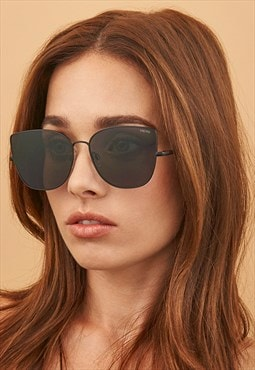 Emma Matte Black Fashion Cat Eye Sunglasses