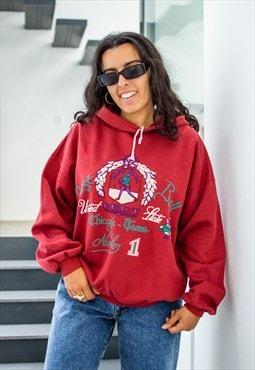 Vintage 90s oversize printed graphic cozy hoodie