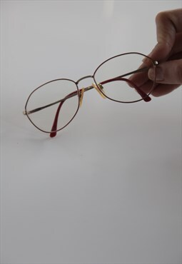 Vintage Gold, Metallic Pink Eyewear. Rx-Able lenses.