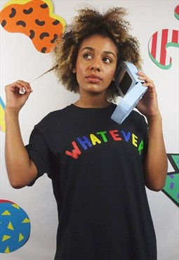 Whatever graphic t-shirt in black