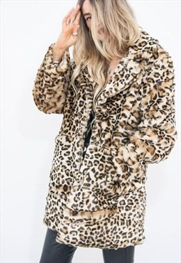 What Katie Did Leopard Faux Fur Coat