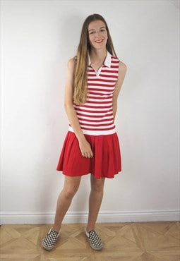 Vintage Red and White Tennis Dress
