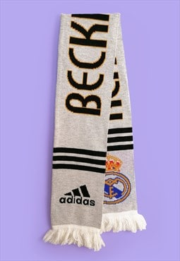 Vintage ADIDAS Real Madrid David Beckham 23 Football Scarf