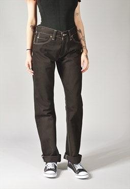 Vintage Levi's 506 Straight Leg Jeans Black