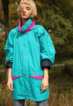 Vintage Helly Hansen Windbreaker Jacket Turquoise