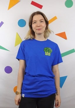 Broccoli t-shirt in royal blue