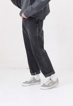 Vintage Wrangler Straight Leg Jeans In Black