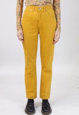Vintage 90s Orange Jeans